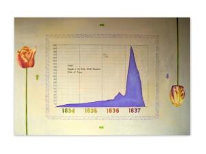 20. ''TIME - TULIPOMANIA'', olio su tela (100x150) 2011
