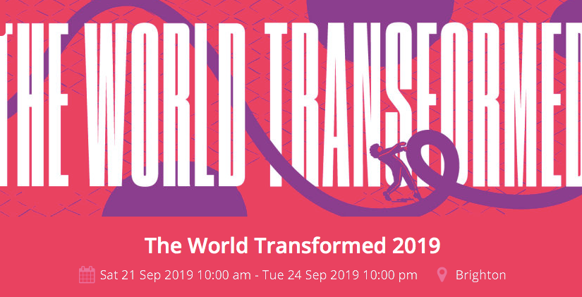 "Momentum ""The World Transformed"" Policy Lab on Capitalism and Mental Health – Saturday 21st Sept 3.00-5.30 in Brighton"